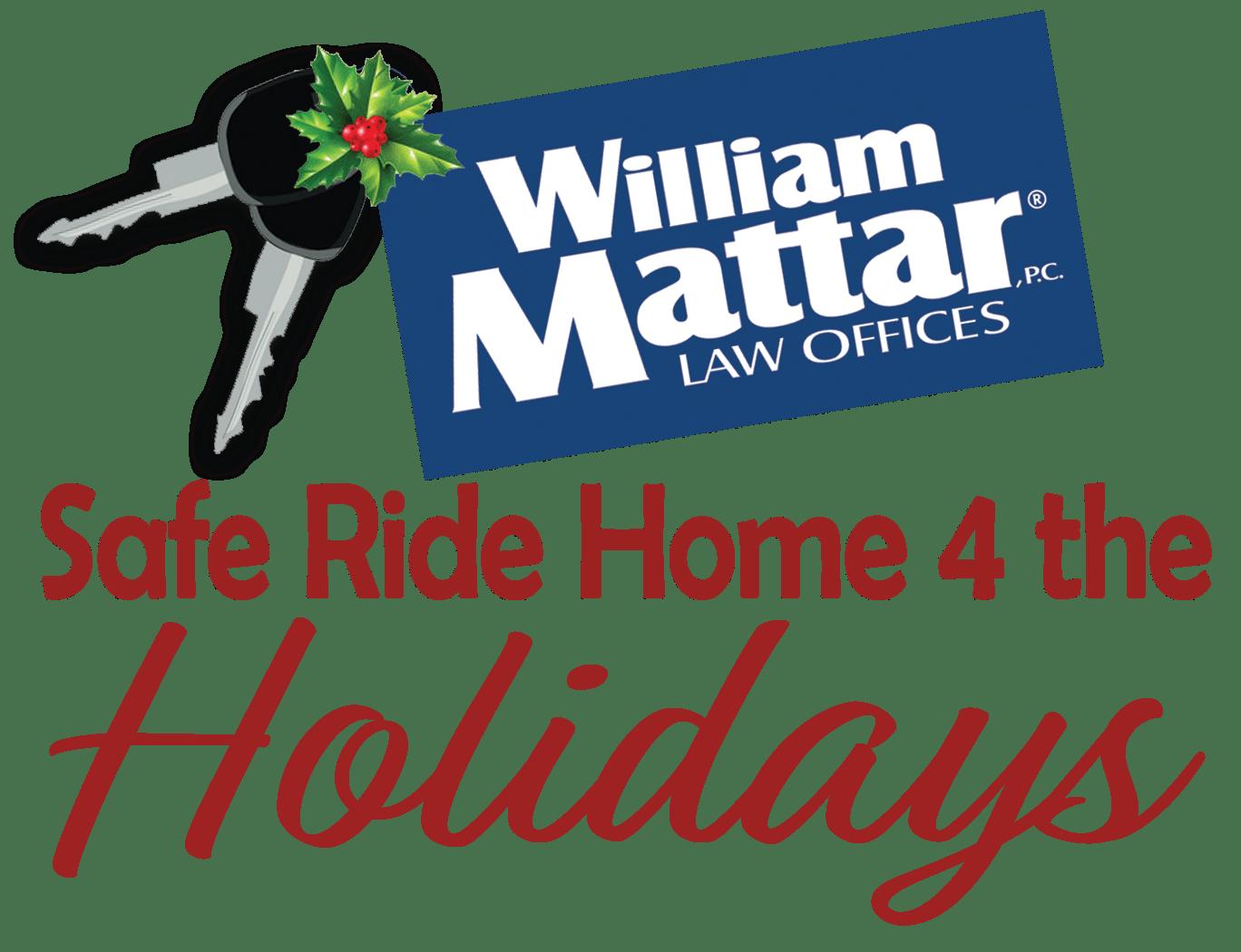 William Mattar Safe Ride Home 4 the Holidays Logo