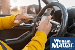 Rideshare Driver using app