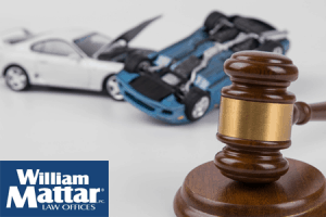 model car wreck and gavel