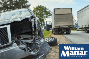 SUV and truck accident