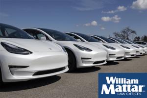 Tesla car lot