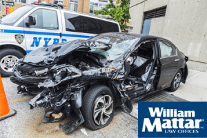 NYPD at scene of car accident