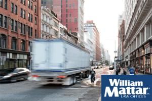 Truck on NYC street