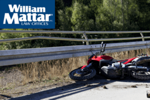 motorcycle vs guardrail accident