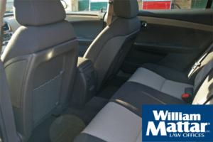 Backs of car seats. Car interior