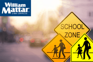 Pedestrian Crossing and School Zone signs